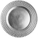 "Jay Import 1182770 Linear Silver Melamine 13"" Charger Plate"