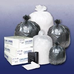 Linear Low Density Garbage Can Liners, 40 x 46, Black