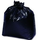 Linear Low Density Garbage Bags, 33 x 39, Black