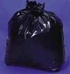 Linear Low Density Trash Can Liners, 38 x 58, Black