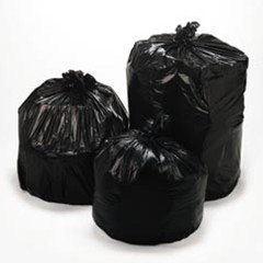Linear Low Density Trash Liners, 38 x 58, Black