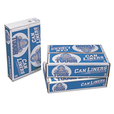 Linear Low Density Can Liners, 60 gal, 0.75 mil, 38