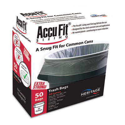 Linear Low Density Can Liners with AccuFit Sizing, 44 gal, 0.9 mil, 37