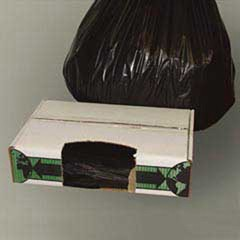 Linear Low-Density Ecosac, 30 x 36, 30-Gallon, 0.6 Mil, Black, 250/Case