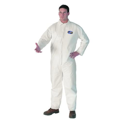 Kleenguard A40 Liquid & Particle Protective Coveralls, XL, White, 25/Carton