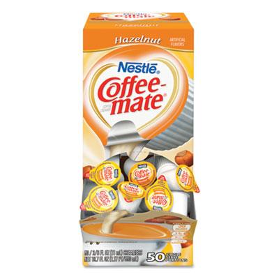 Liquid Coffee Creamer, Hazelnut, 0.38 oz Mini Cups, 50/Box