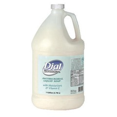 Dial Liquid Antimicrobial with Moisturizers and Vitamin E, 1 Gallon, 4/Carton