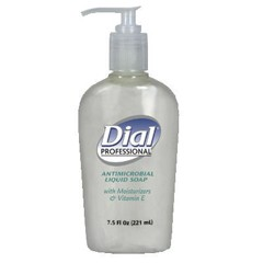 Liquid Dial Antimicrobial with Moisturizers and Vitamin E, 7.5 oz D�cor Pump