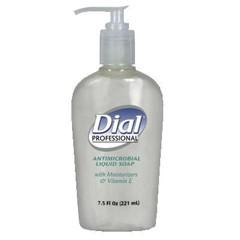 Liquid Dial Antimicrobial with Moisturizers and Vitamin E, 7.5 oz Décor Pump