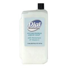 Liquid Dial Antimicrobial with Moisturizers and Vitamin E, 1-Liter Refill
