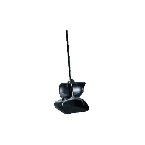 Lobby Upright Dust Pan with Cover, Black