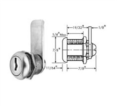 Franklin Machine Products  132-1085 Lock, Cylinder (Stainless Steel Face )