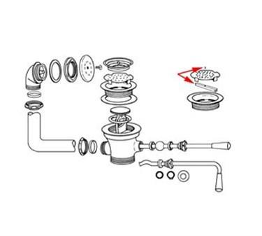 Franklin Machine Products  100-1053 Waste Strainer Lock, for 3