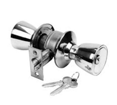 Franklin Machine Products  134-1098 Lockset, Door (Entrance, Stainless Steel )