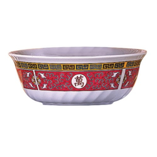 Longevity Melamine 27 Oz. Fluted Bowl - 6-7/8
