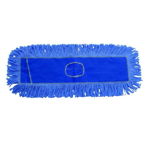 Loop End Dust Head, 36 X 6.5, Cotton/Synthetic, Blue