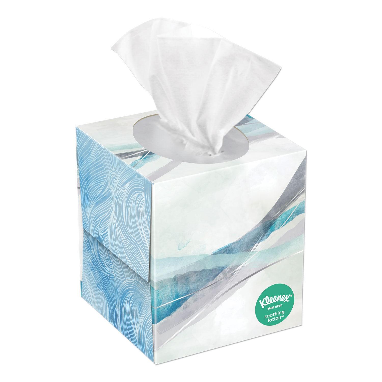 Kleenex Lotion Facial Tissue, 2-Ply, White, 65 Sheets/Box, 27 Boxes/Carton