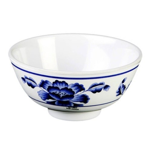 Lotus Melamine 12 Oz. Rice Bowl - 4-7/8