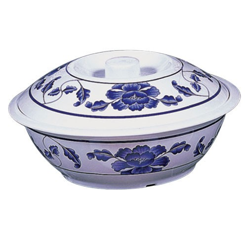 Thunder Group 8011TB Lotus Melamine Serving Bowl with Lid 80 oz.