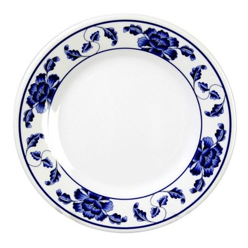 Thunder Group 1016TB Lotus Melamine Round Plate 15-1/2""