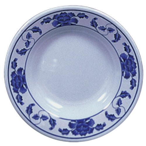 Lotus Melamine Soup Plate - 9-1/4