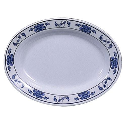 Lotus Oval Melamine Deep Platter - 13
