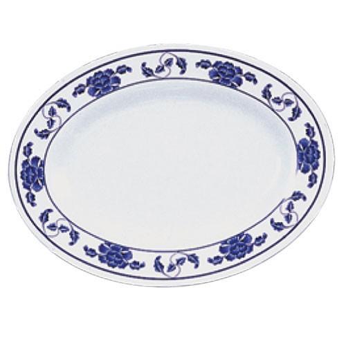 Lotus Oval Melamine Platter - 14