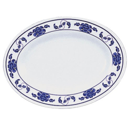 Lotus Oval Melamine Platter - 16