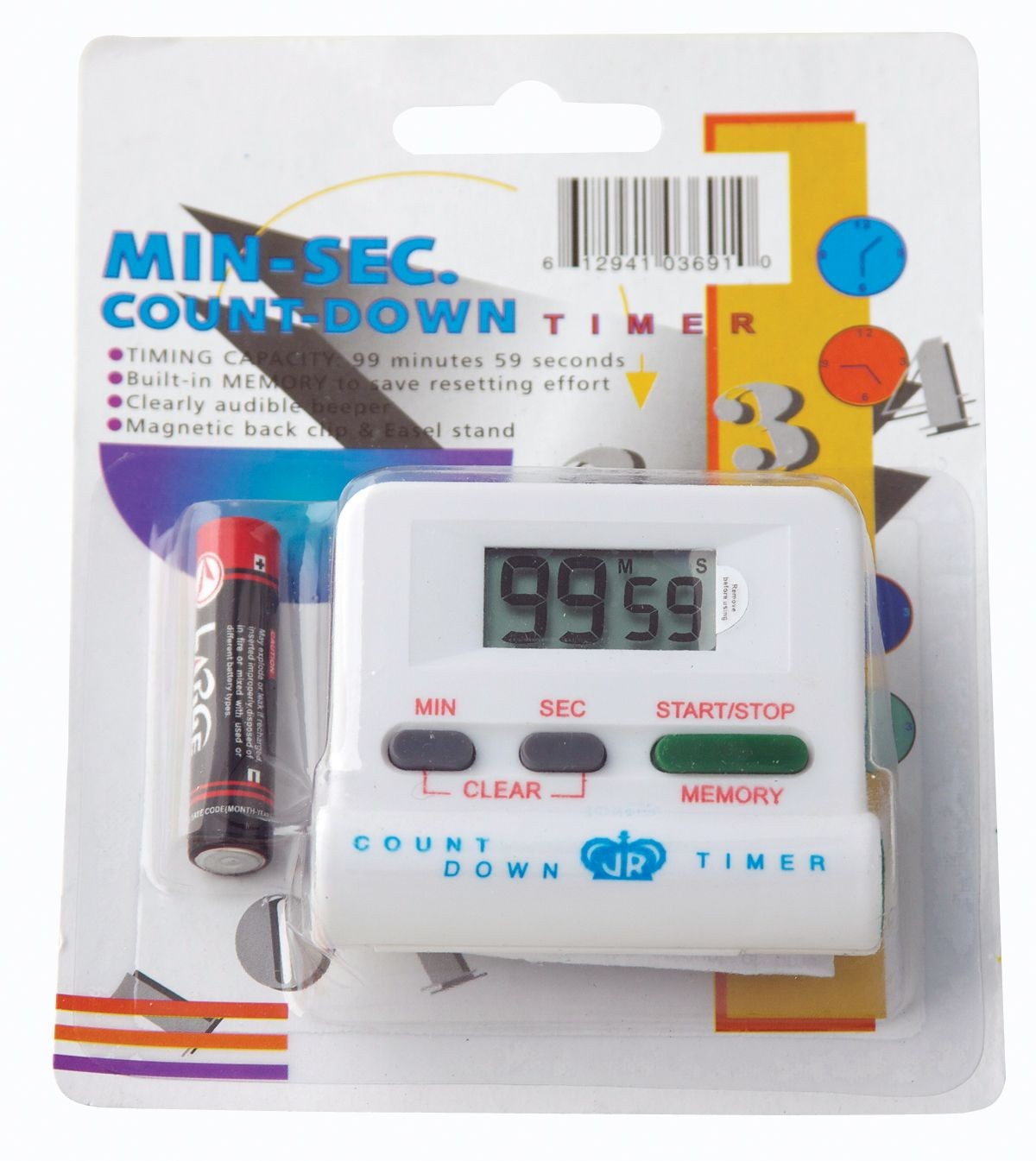 Loud-Beep Digital Electronic Timer - Up to 99 Minutes
