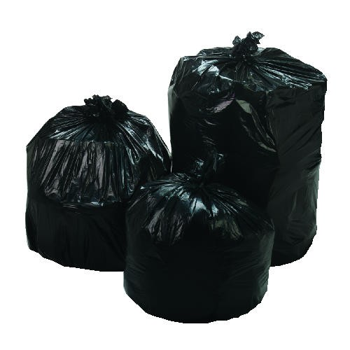 Low- Density Repro Garbage Can Liner, 33 X 39, Black