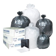 Low-Density Can Liner, 38 x 58, 60-Gallon, 1.4 Mil, Black, 20/Roll