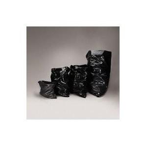 Low-Density Can Liner, 38 x 58, 60-Gallon, 1.7 Mil, Black, 100/Carton