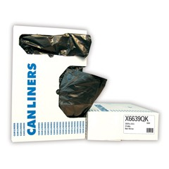 Low-Density Can Liner, 40 x 46, 45-Gallon, 1.2 Mil, Black, 100/Case