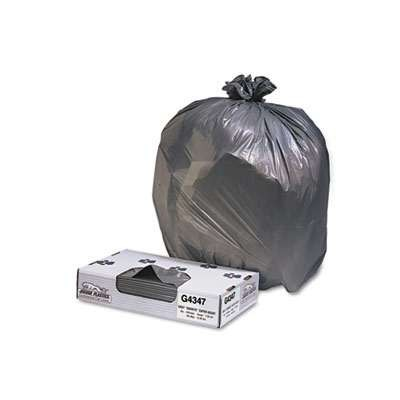 Low-Density Can Liner, 43 x 47, 56-Gallon, 1.7 Mil, Black, 100/Case