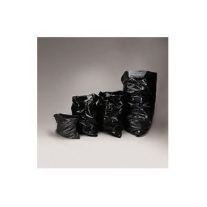 Low-Density Garbage Can Liners, 45gal, 23w x 17d x 46h, Black