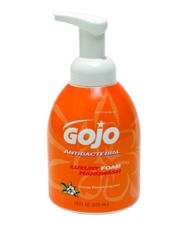 Luxury Foam Antibacterial Handwash Pump, Orange, 18 Oz