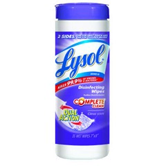 Lysol Dual Action Scrub Wipes, 28 Count