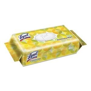 Lysol Disinfecting Wipes Flat Packs, Lemon and Lime Blossom, 80 Wipes/Pack, 6 Packs/Carton
