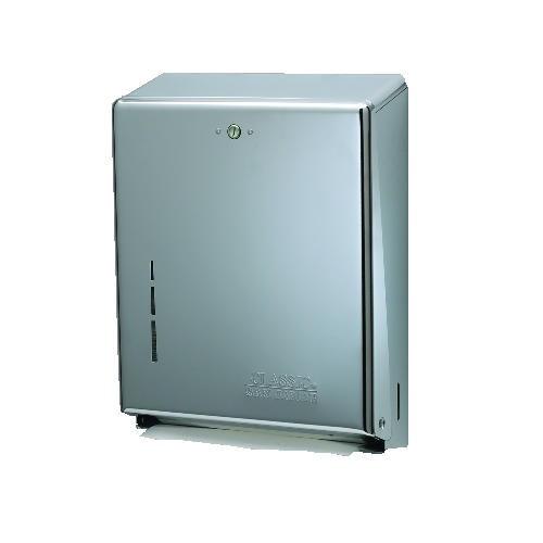 San Jamar C-Fold/Multifold Towel Dispenser, Stainless Steel