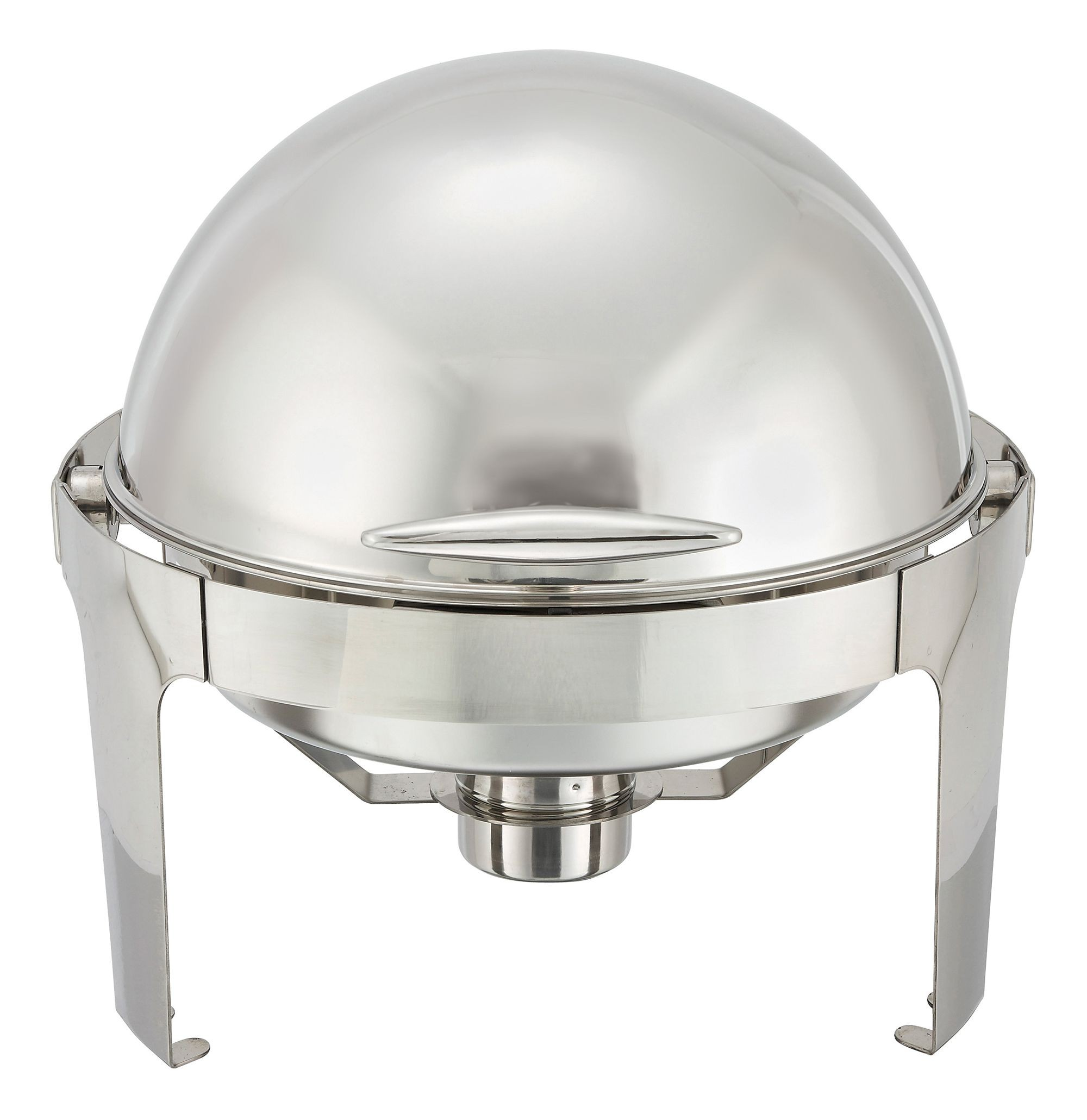 Madison 6-Qt Full Size Round Chafer With Roll Top Opening