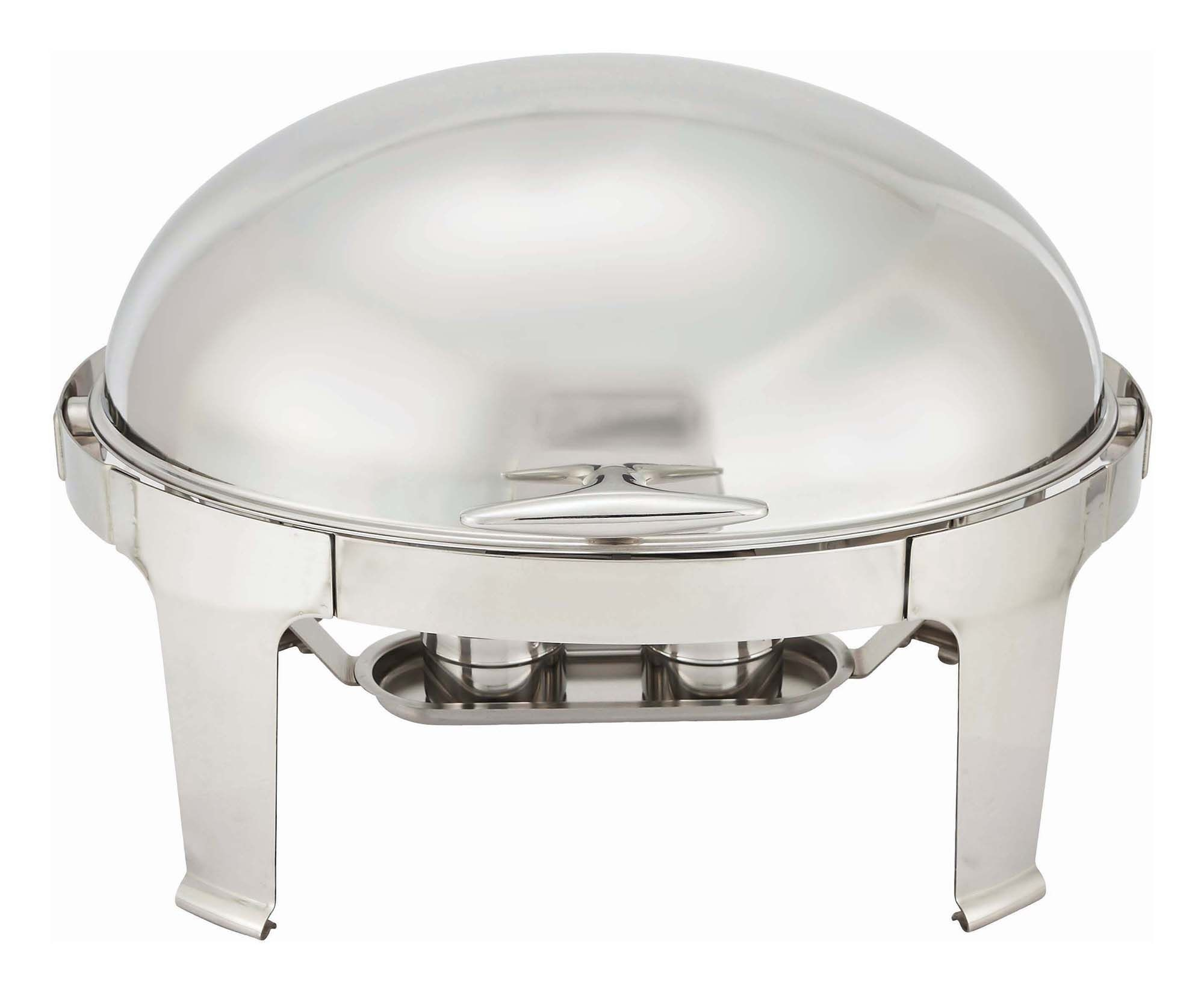 Winco 603 Madison Oval Roll Top Chafer 8 Qt.