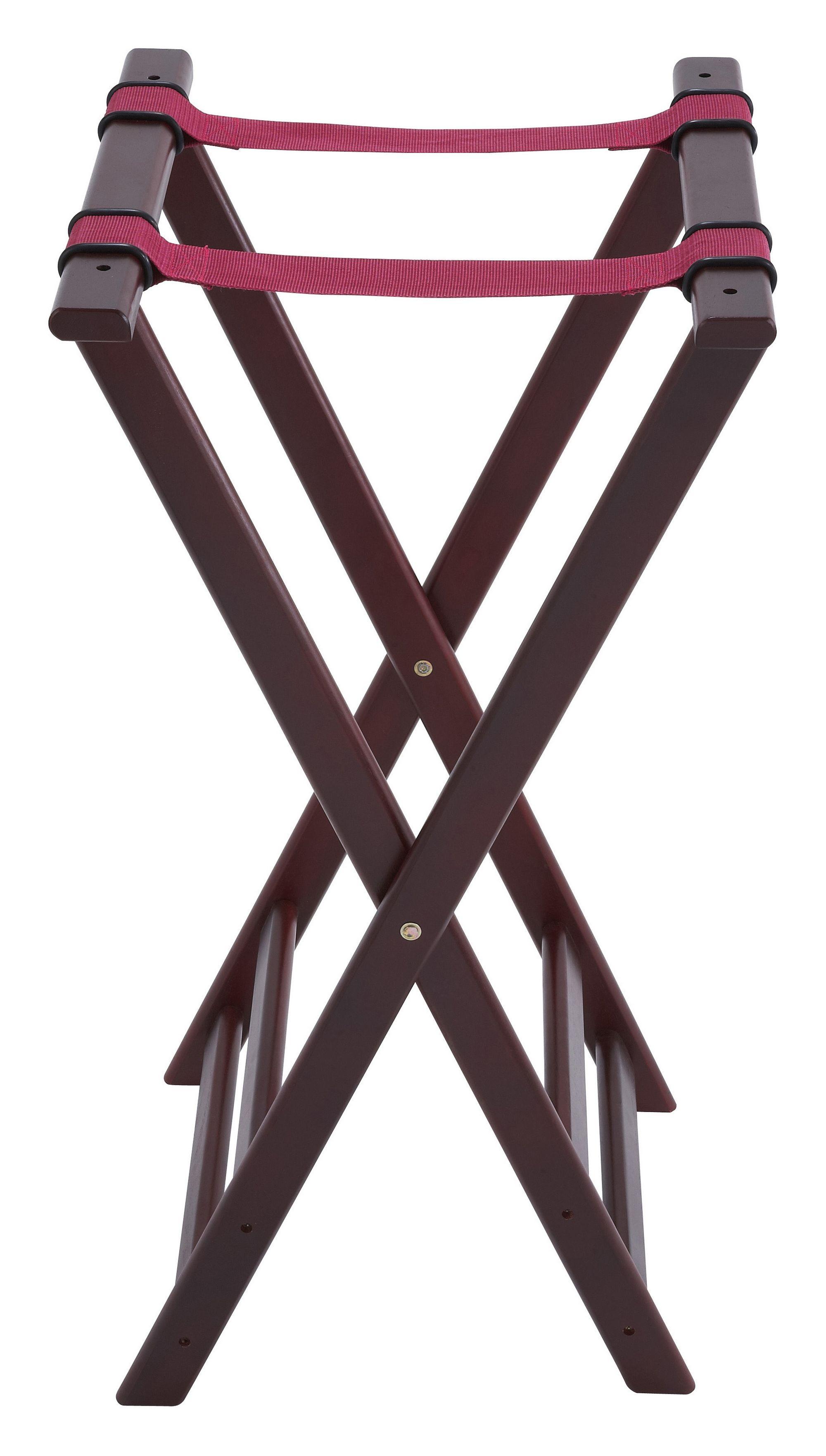 Mahogany-Finish Foldable Tray Stand - 32