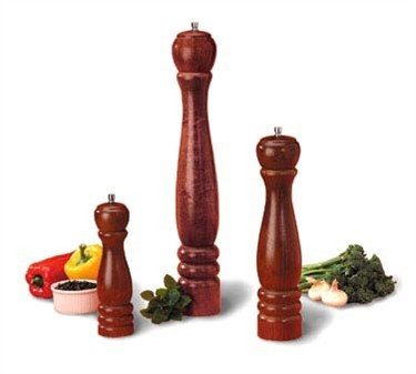 TableCraft PM1918 Mahogany Wood Finish Pepper Mill 18""