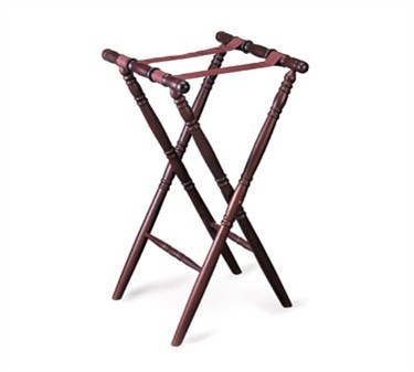 "TableCraft 31 Mahogany Tray Stand 31""H"
