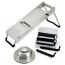 Mandoline Slicer Set With Stainless Steel Hand Guard