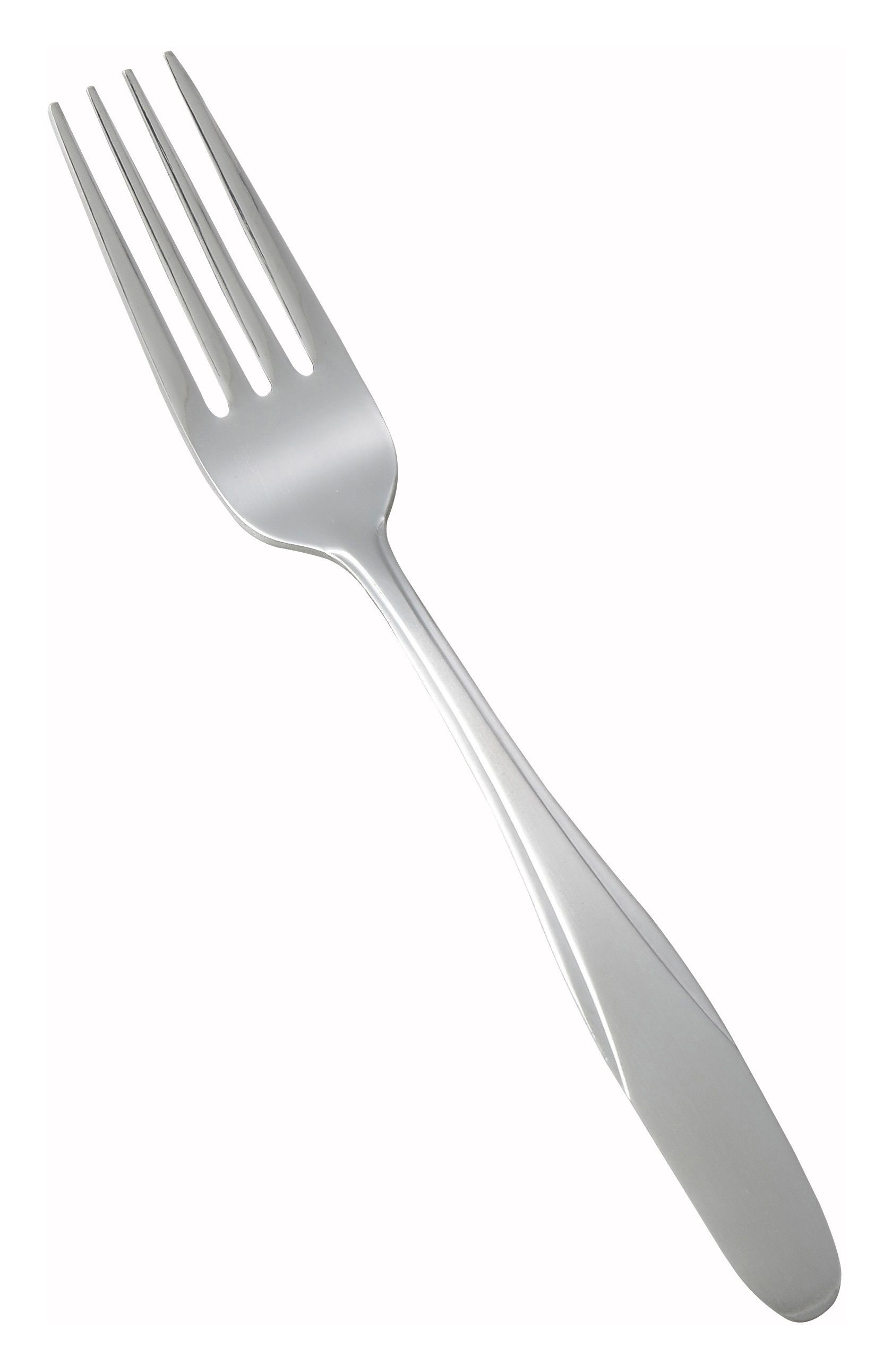 Winco 0008-05 Manhattan Heavy Weight 18/0 Satin Finish Stainless Steel Dinner Fork (12/Pack)