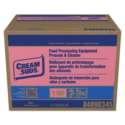 Cream Suds Manual Pot & Pan Detergent with Phosphate, Baby Powder Scent, 25 lb. Box
