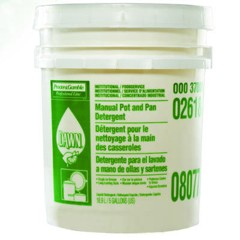 Manual Pot & Pan Dish Detergent, Lemon Scent, Liquid, 5 gal. Pail