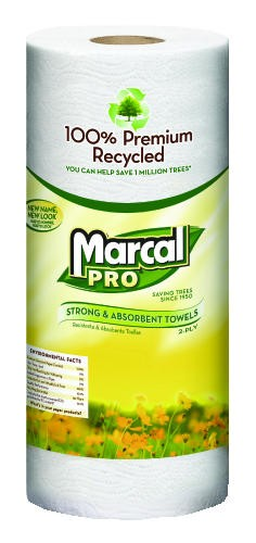 Marcel Sunrise Kitchen Roll Paper Towel, 2- Ply, White