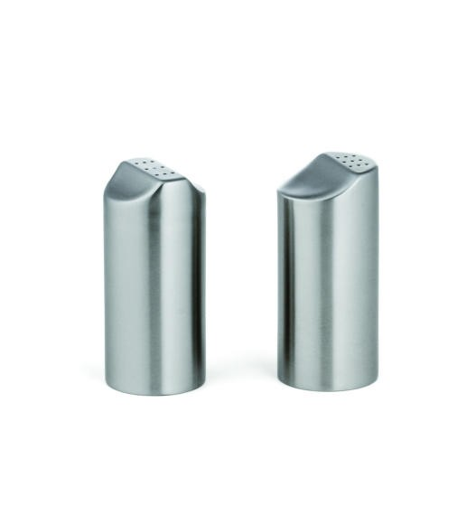 TableCraft 162 Marina Stainless Steel 2 oz. Salt & Pepper Shaker Set